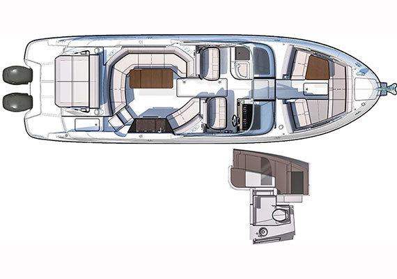 SLX 350 OutboardFloorplan